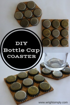 DIY Beer Cap Coasters